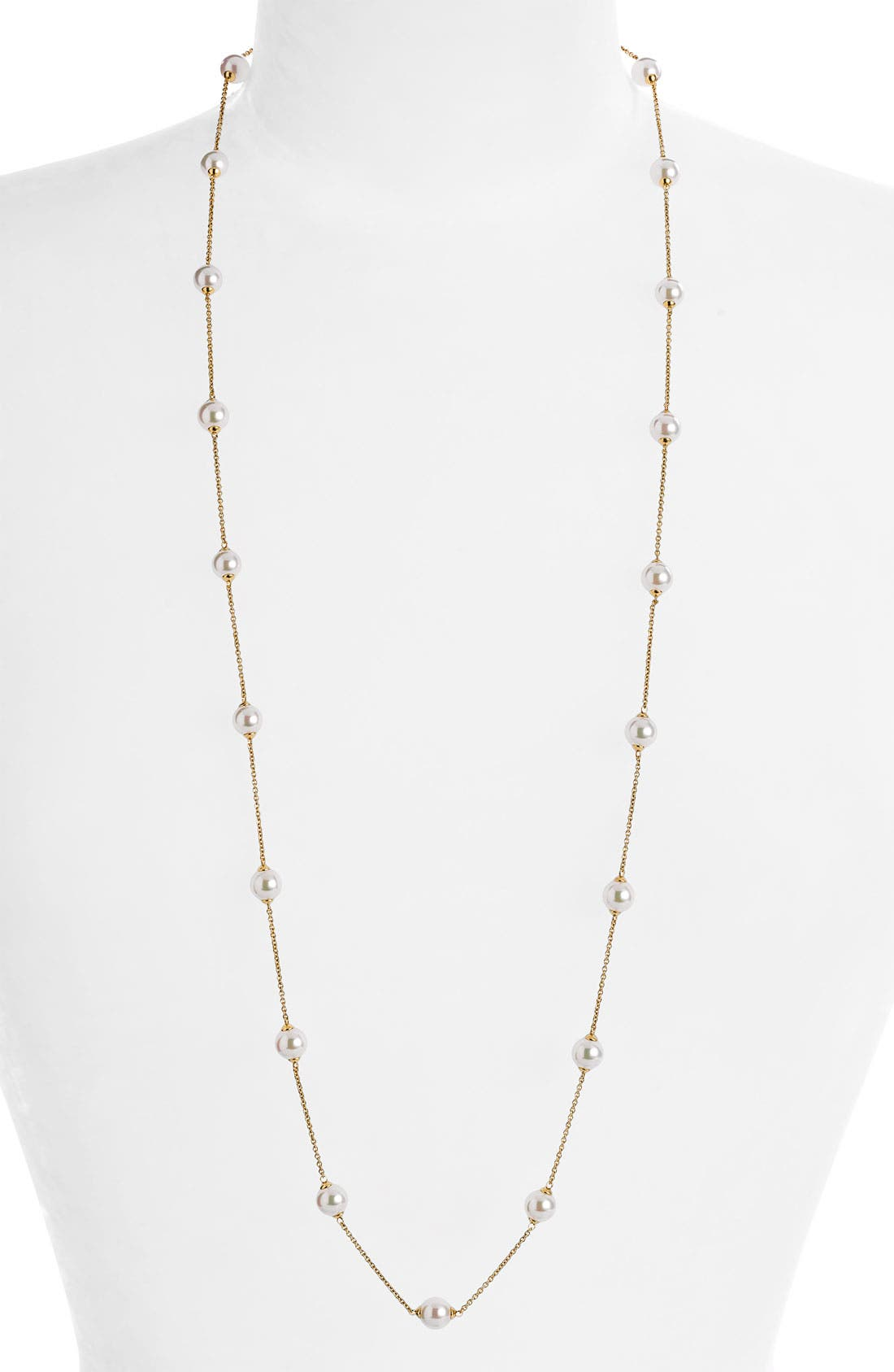 Alternate Image 1 Selected - Majorica 8mm Long Illusion Pearl Necklace