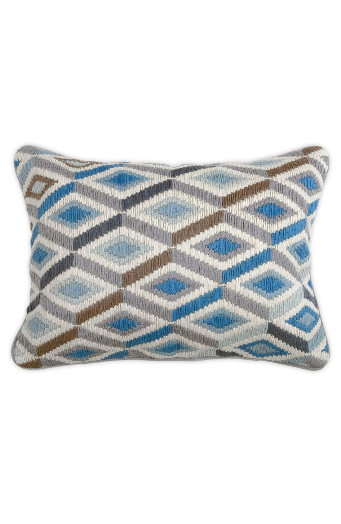 'Diamonds' Pillow,                         Main,                         color, Grey/Green