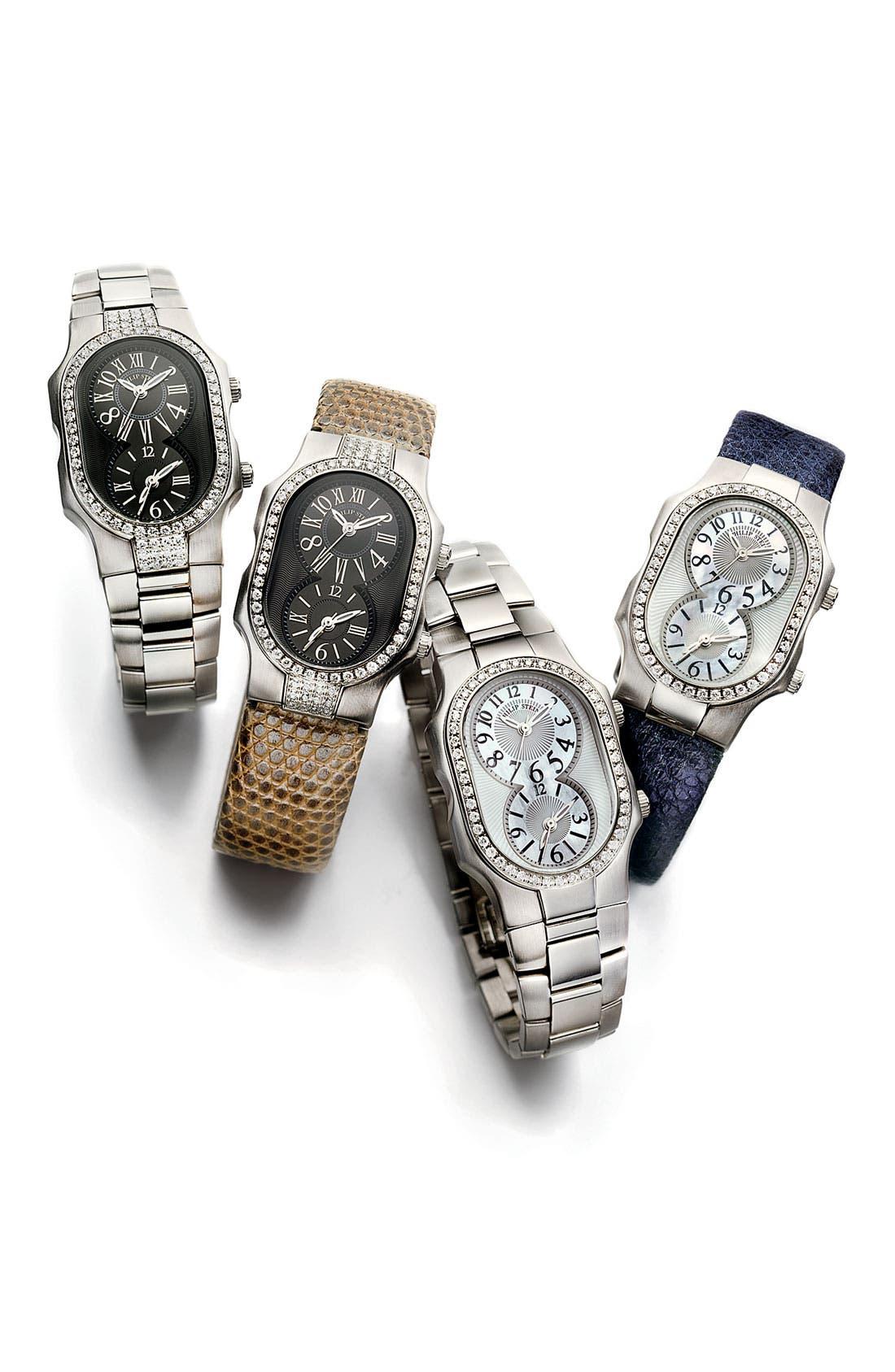 Alternate Image 4  - Philip Stein® 'Signature' Small Double Diamond Bezel Watch Case