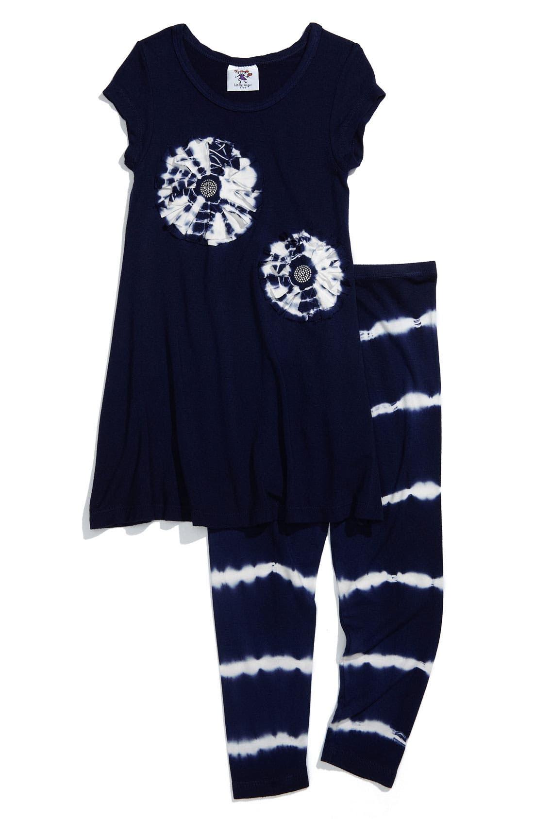 Alternate Image 1 Selected - Mignone 'Flyaway Flower' Tunic & Leggings Set (Toddler)