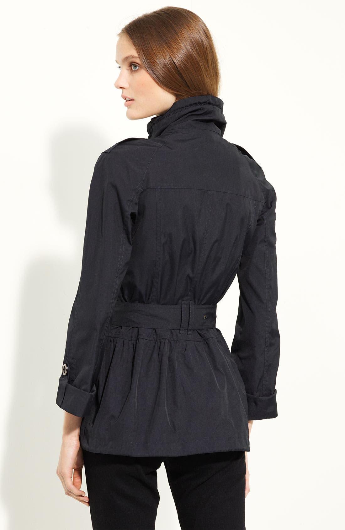 Alternate Image 2  - Burberry London Belted Taffeta Jacket