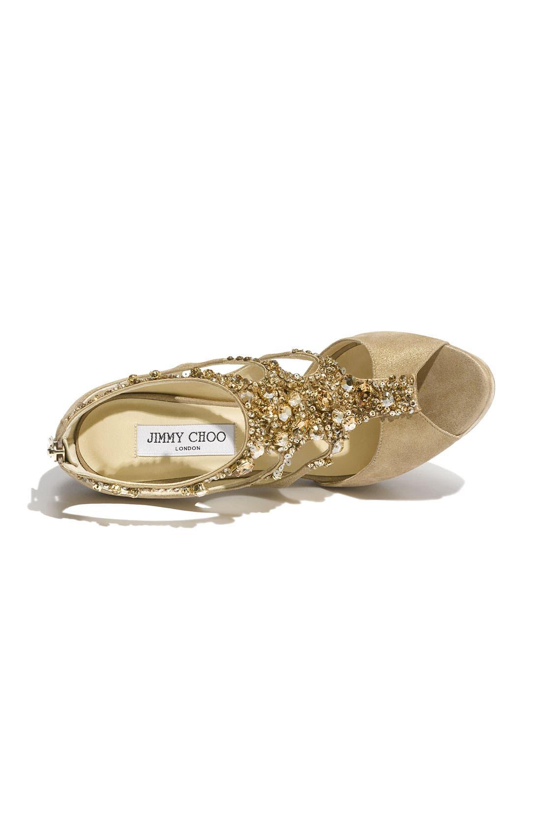 Alternate Image 3  - Jimmy Choo 'Teal Tawny' Jeweled Sandal