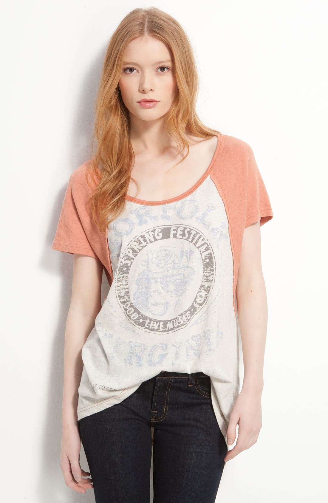 Alternate Image 1 Selected - Free People Vintage Festival Graphic Baseball Tee