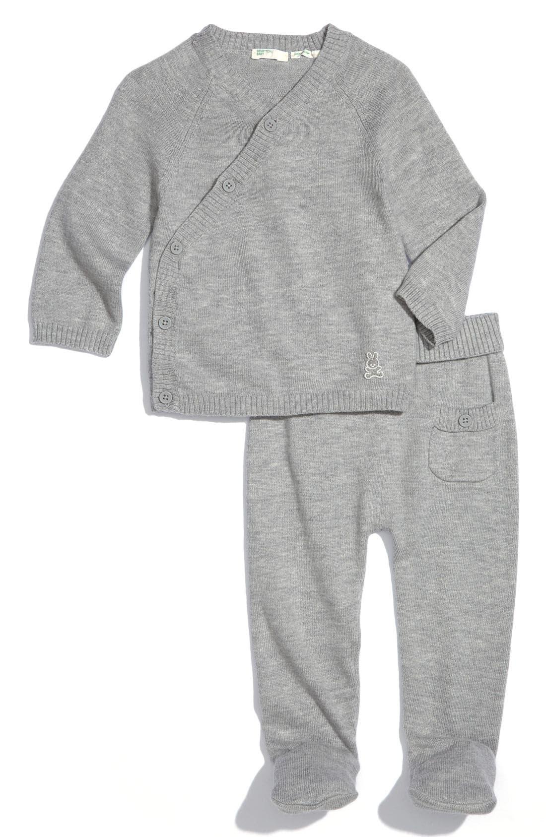 Alternate Image 1 Selected - United Colors of Benetton Kids Shirt & Pants Set (Infant)