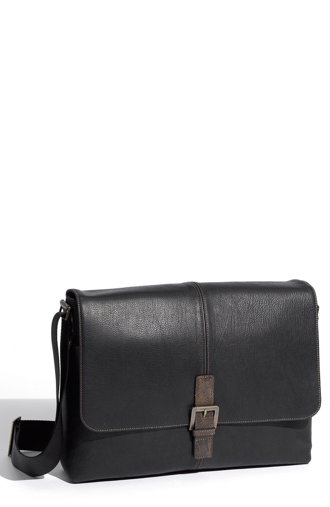 Main Image - Boconi Leather Messenger Bag
