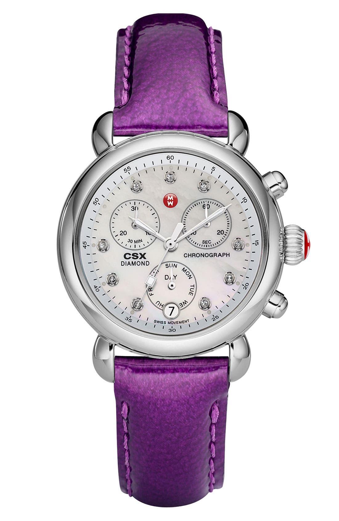 Alternate Image 1 Selected - MICHELE 'CSX-36 Diamond Marker' Customizable Watch