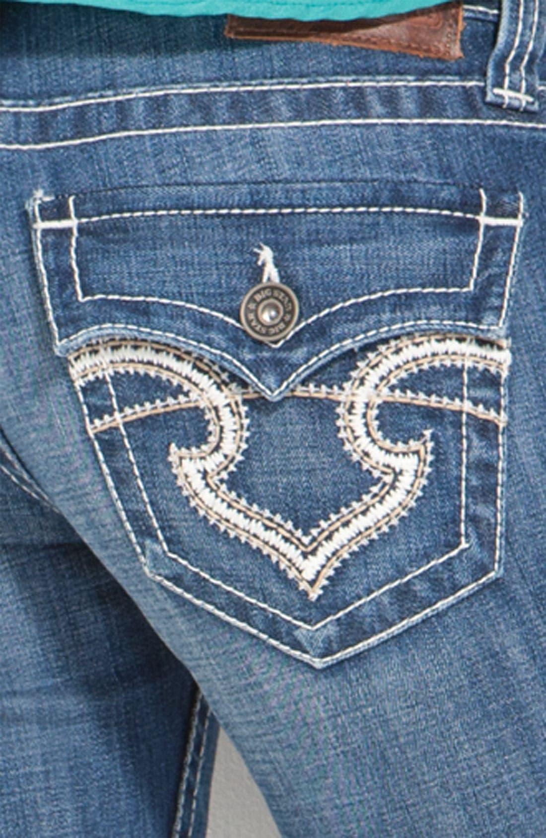 Alternate Image 3  - Big Star 'Remy' Bootcut Jeans (Junction Wash) (Juniors Regular & Long)