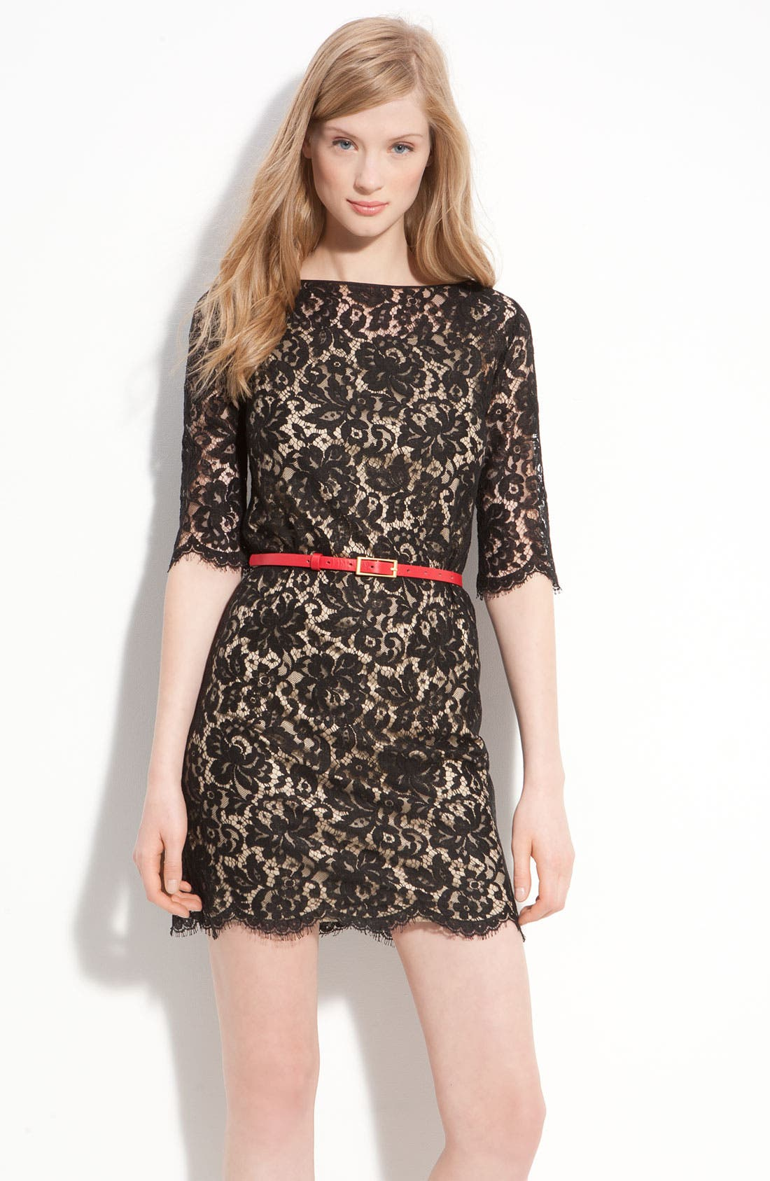 Alternate Image 1 Selected - Robert Rodriguez Belted Lace Minidress