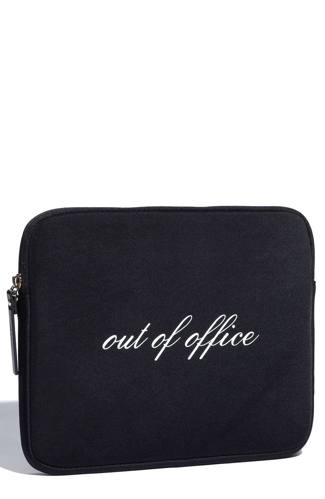 Alternate Image 1 Selected - kate spade new york 'out of office' iPad sleeve