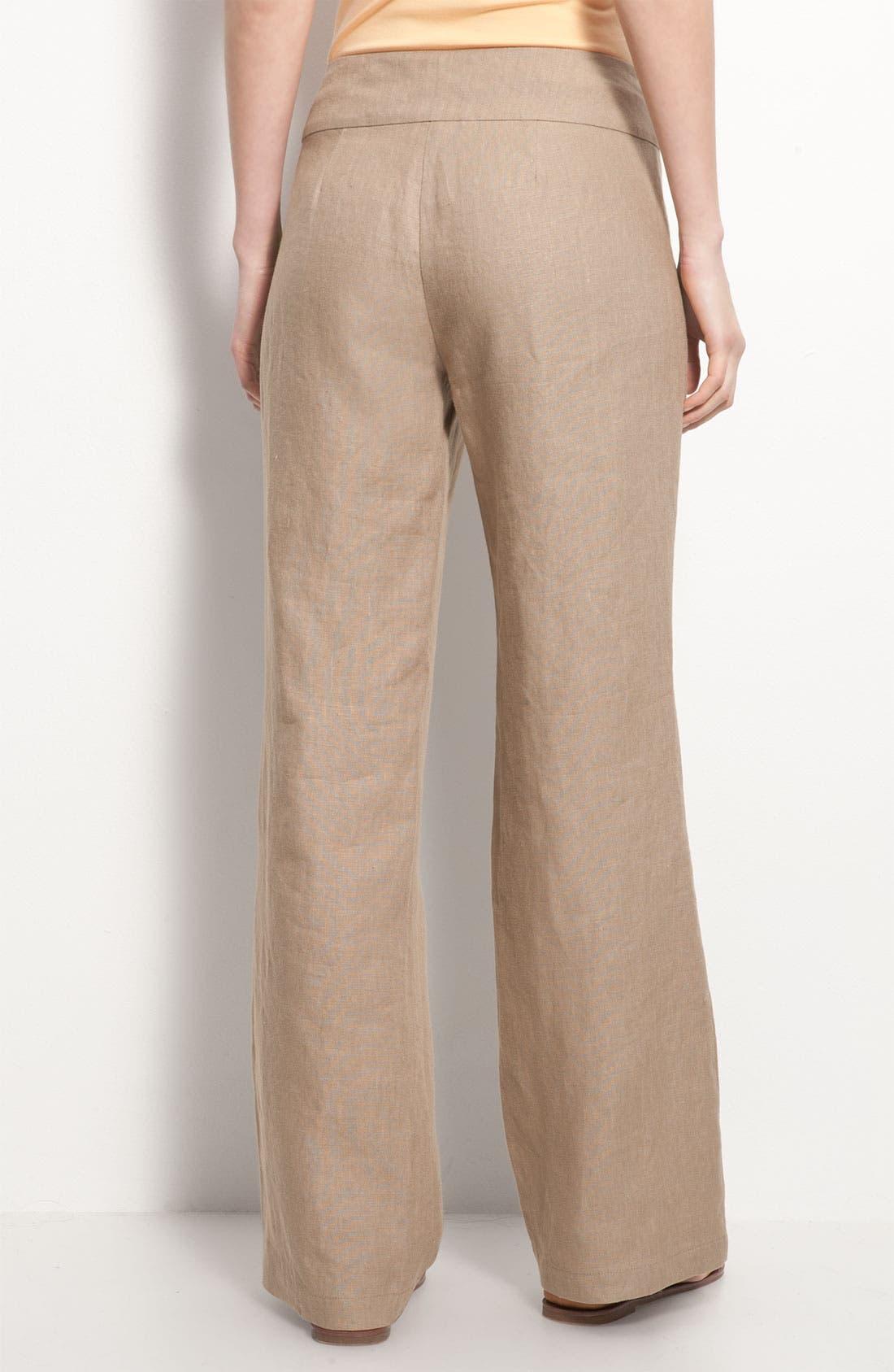 Alternate Image 2  - Eileen Fisher Wide Leg Linen Trousers