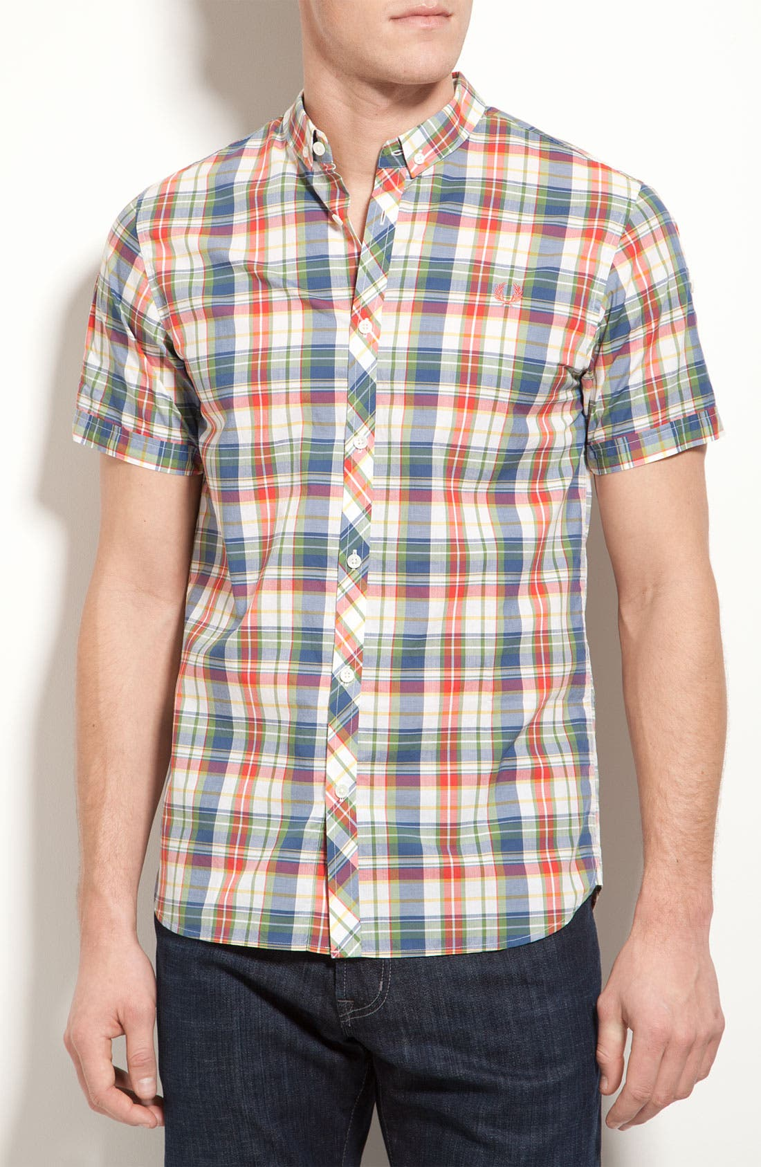 Alternate Image 1 Selected - Fred Perry Madras Plaid Shirt