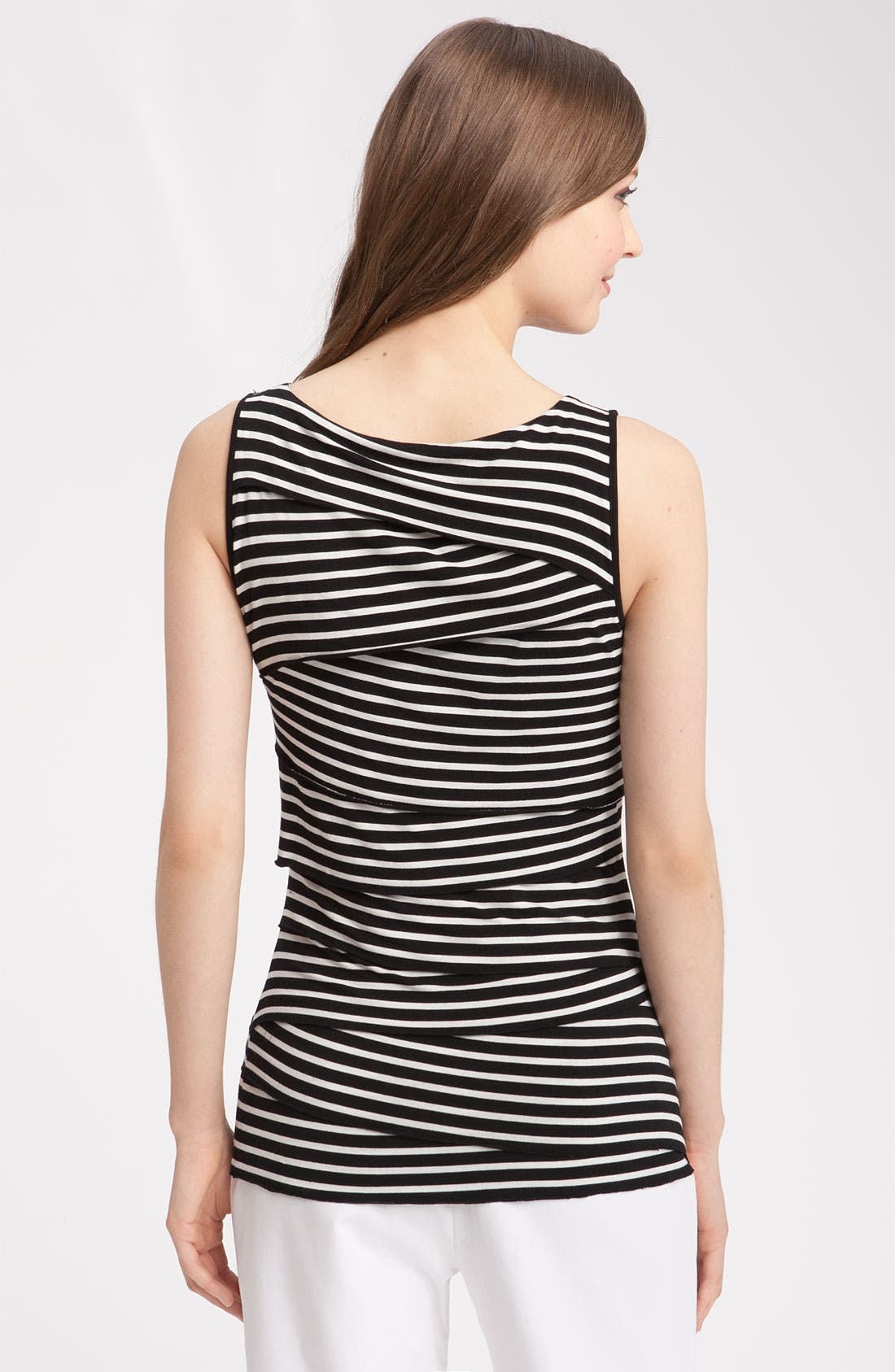 Alternate Image 2  - Vince Camuto Tiered Stripe Jersey Top