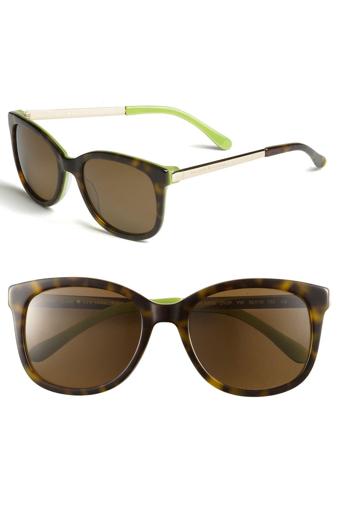 Alternate Image 1 Selected - kate spade new york 'gayla' 52mm oversized polarized sunglasses