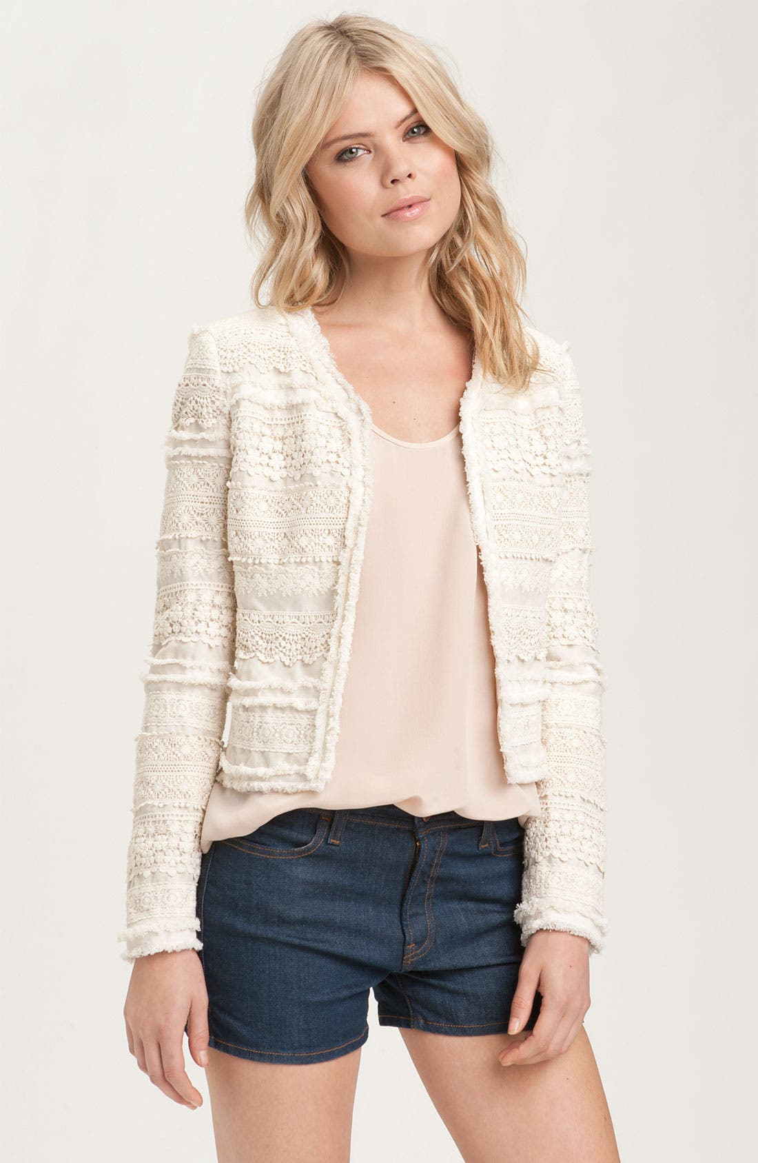 Main Image - Truth and Pride Mélange Lace Stripe Jacket