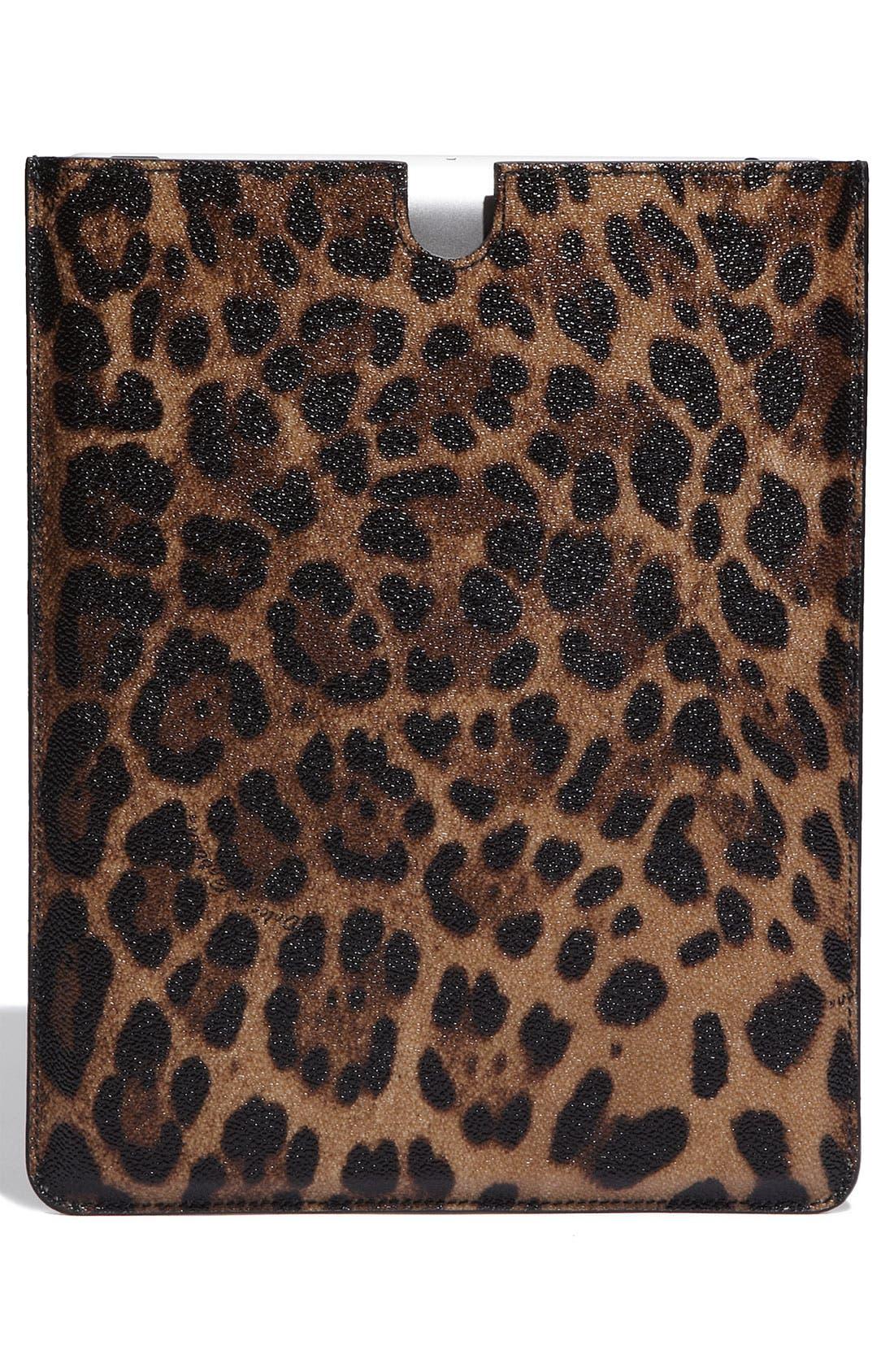 Alternate Image 4  - Dolce&Gabbana Leopard Print iPad Case