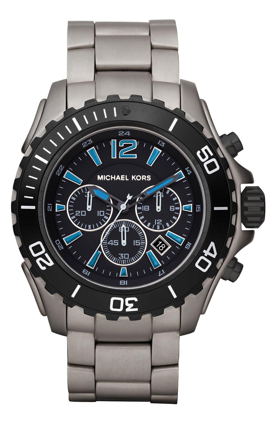 Main Image - Michael Kors 'Drake' Titanium Bracelet Watch
