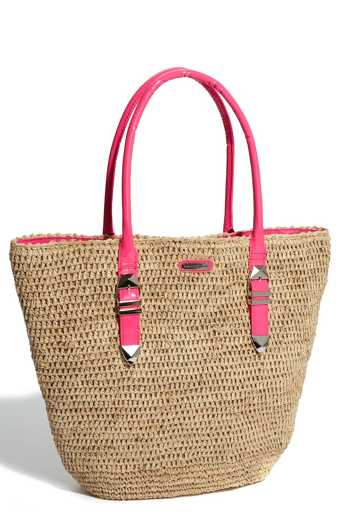 'Boyfriend' Tote,                             Main thumbnail 1, color,                             Natural/Pink