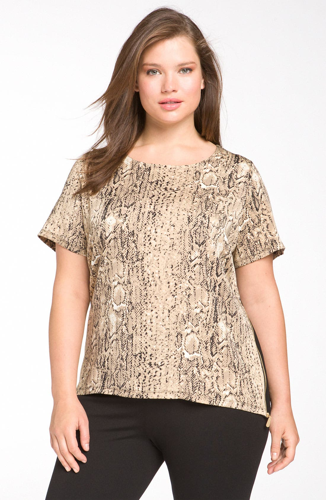 Alternate Image 1 Selected - Vince Camuto 'Safari Skin' Tee (Plus)