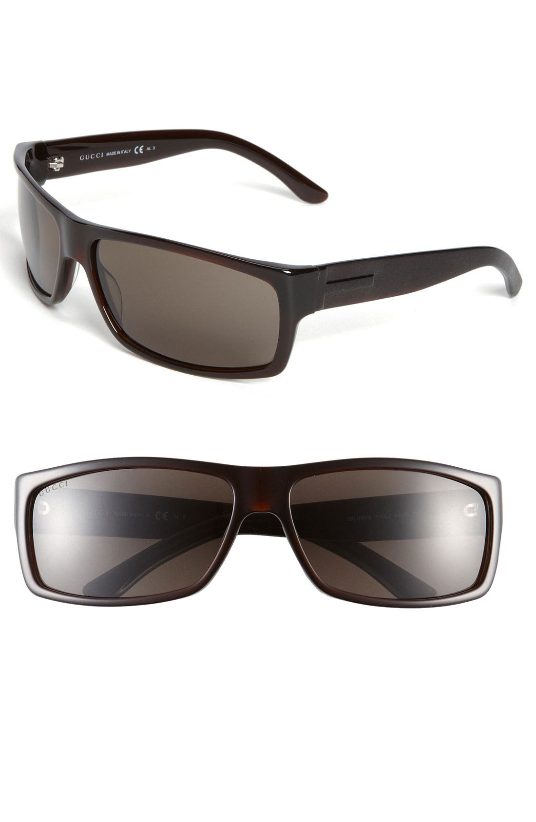 Alternate Image 1 Selected - Gucci 64mm Wrap Sunglasses