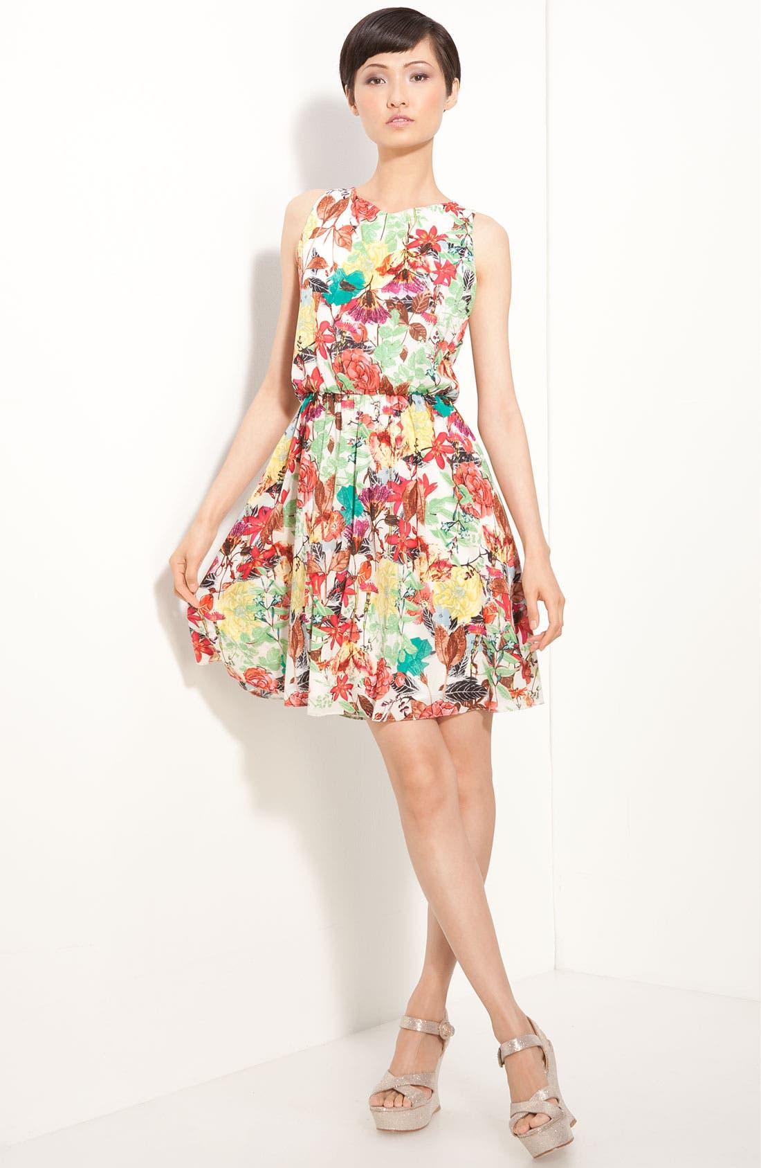 Alternate Image 1 Selected - Alice + Olivia 'Alina' Floral Print Dress