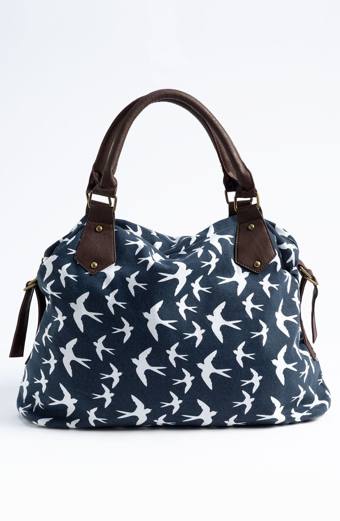 Alternate Image 1 Selected - Amici Accessories Bird Print Canvas Shoulder Bag