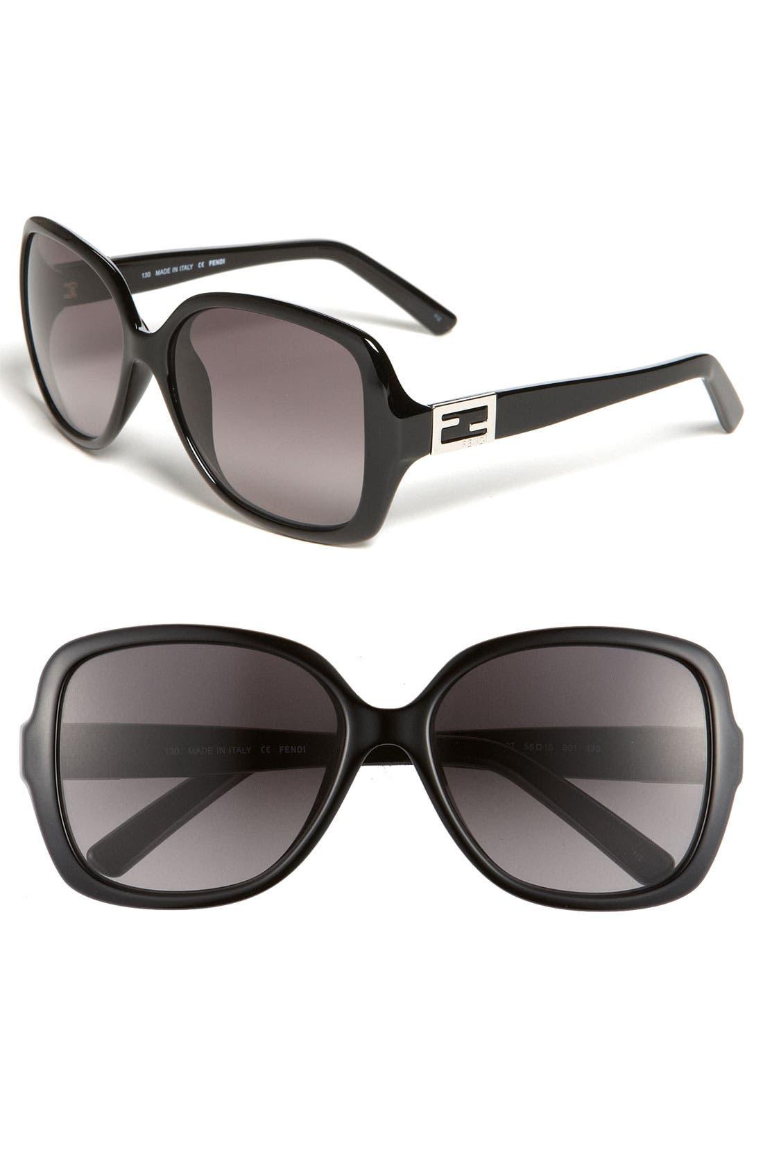 Main Image - Fendi 'Classic' 56mm Sunglasses