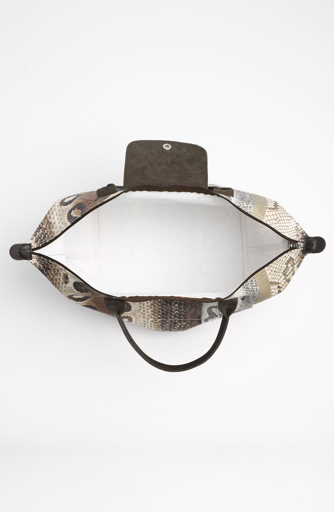 Alternate Image 3  - Longchamp 'Reptiligne Toile' Handbag