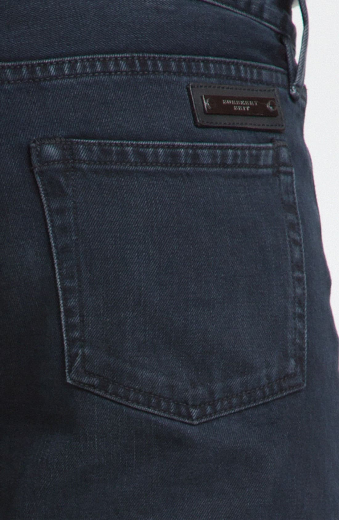 Alternate Image 3  - Burberry Brit Straight Leg Jeans (Supersoft Black)