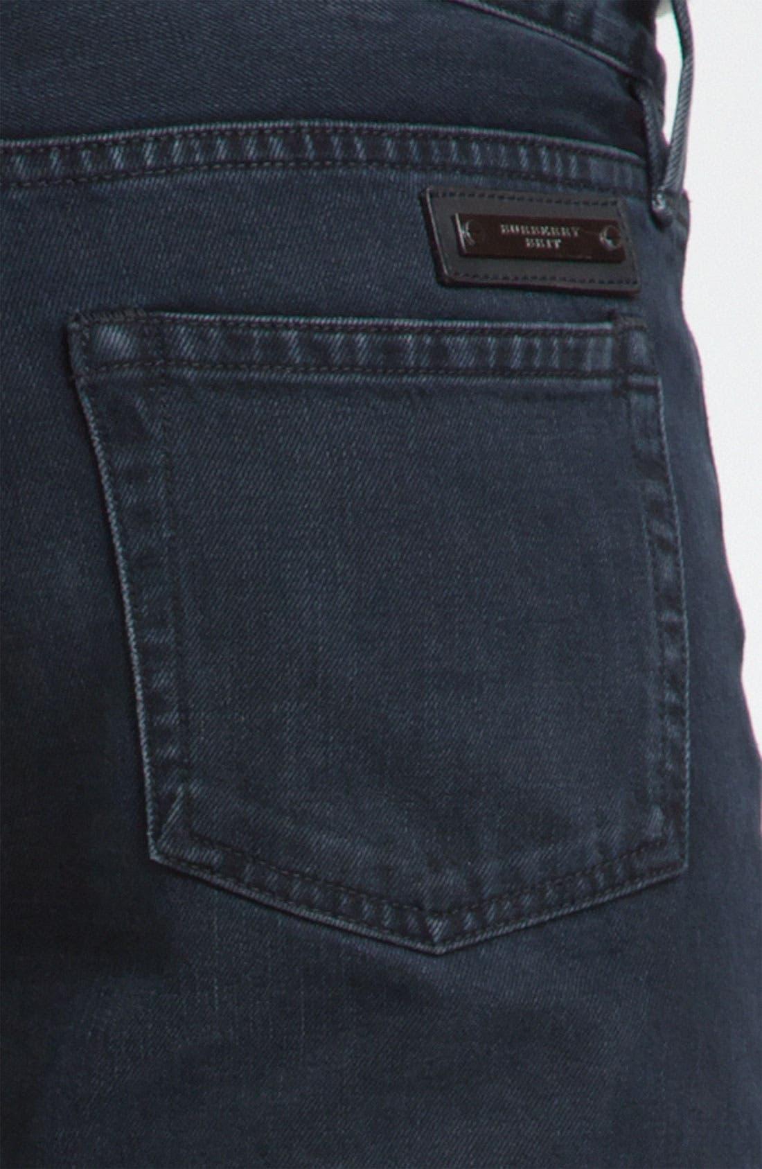 Alternate Image 3  - Burberry Brit Straight Leg Jeans (Supersoft Black)