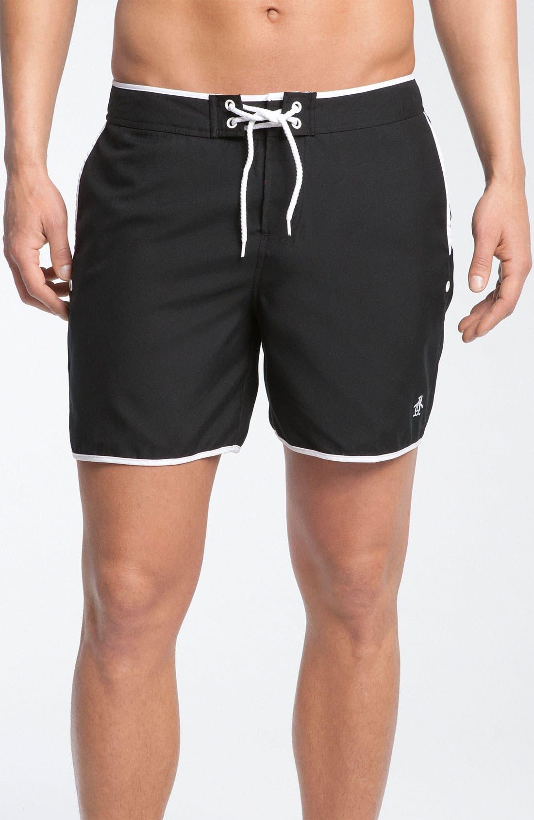 Alternate Image 1 Selected - Original Penguin Solid Volley Swim Shorts