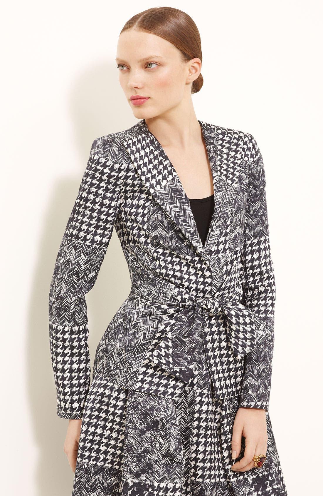 Alternate Image 1 Selected - Oscar de la Renta Tweed & Matelassé Patchwork Jacket