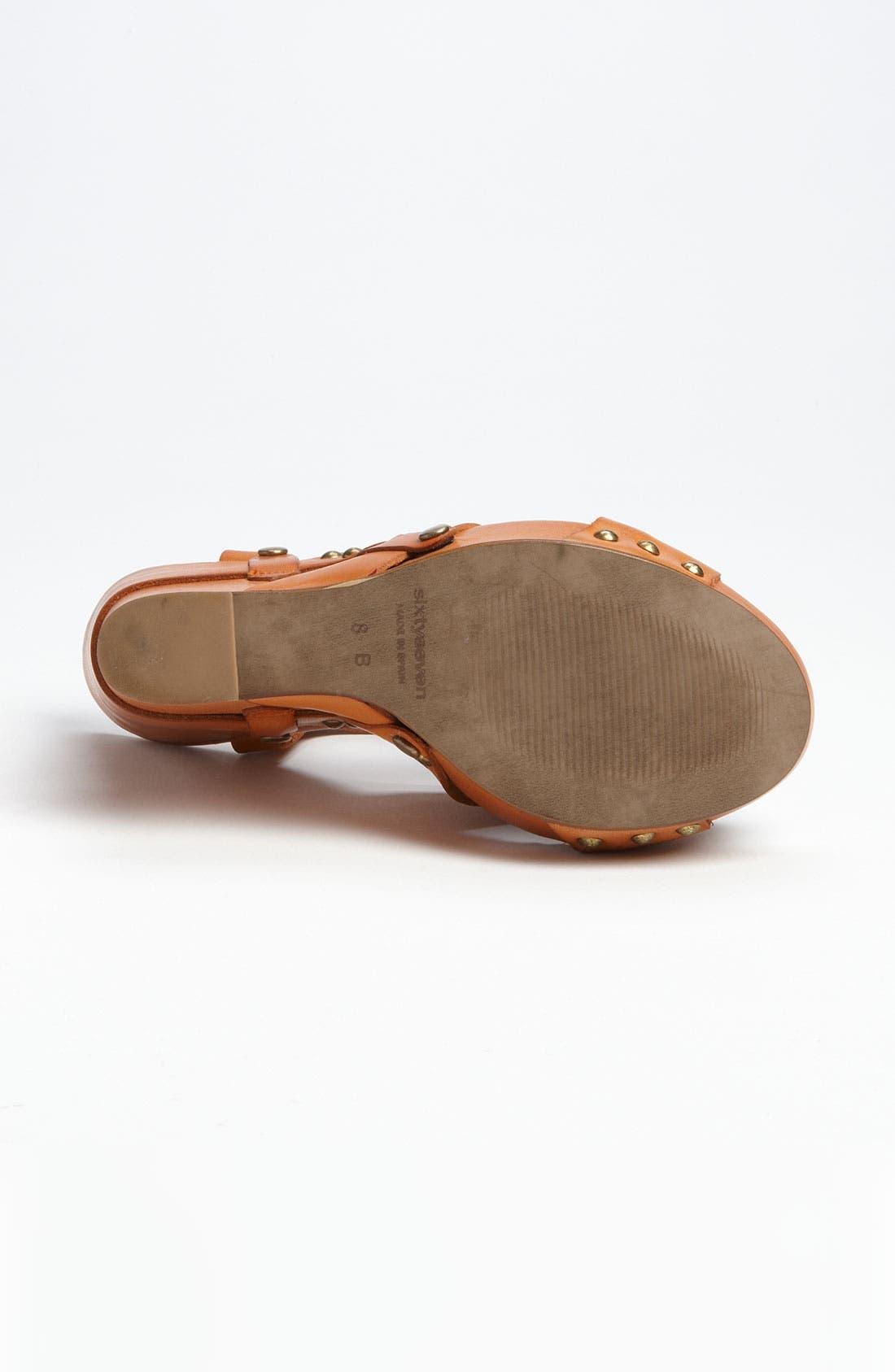 Alternate Image 4  - SIXTYSEVEN '72019' T-Strap Wedge Sandal