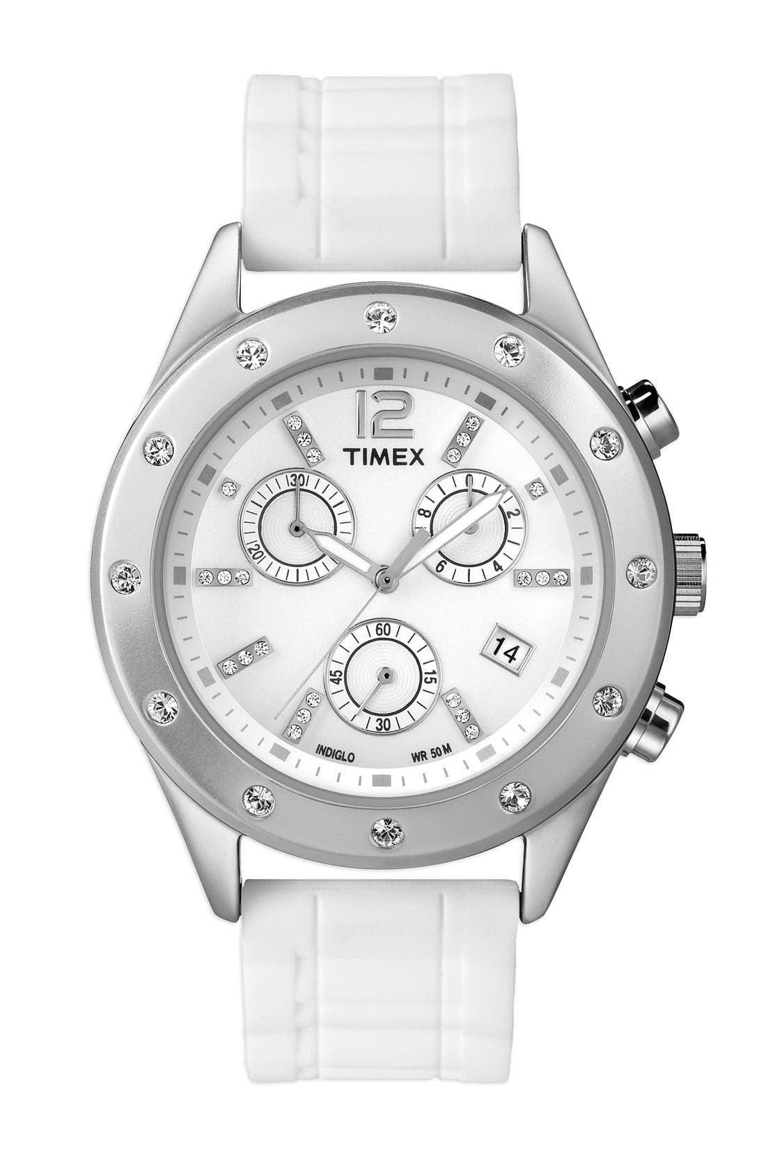 Alternate Image 1 Selected - Timex® Crystal Accent Chronograph Watch