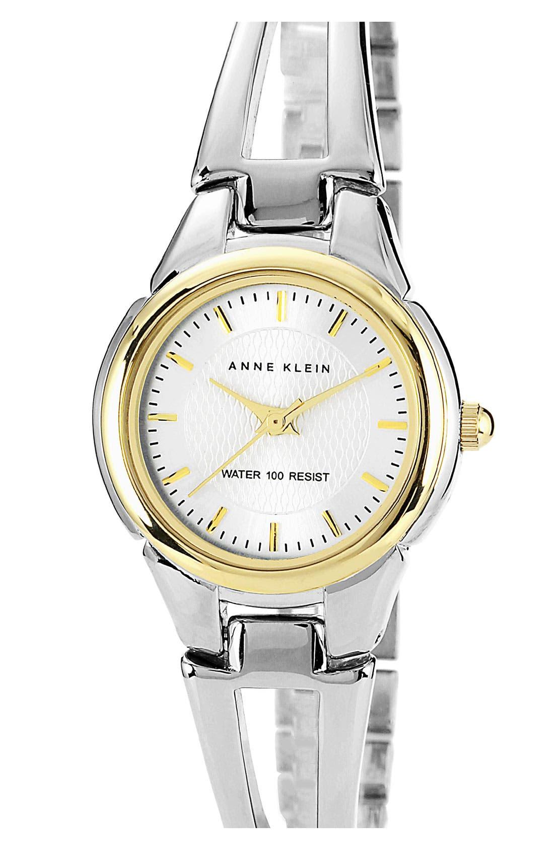 Main Image - Anne Klein Small Round Bangle Watch, 26mm