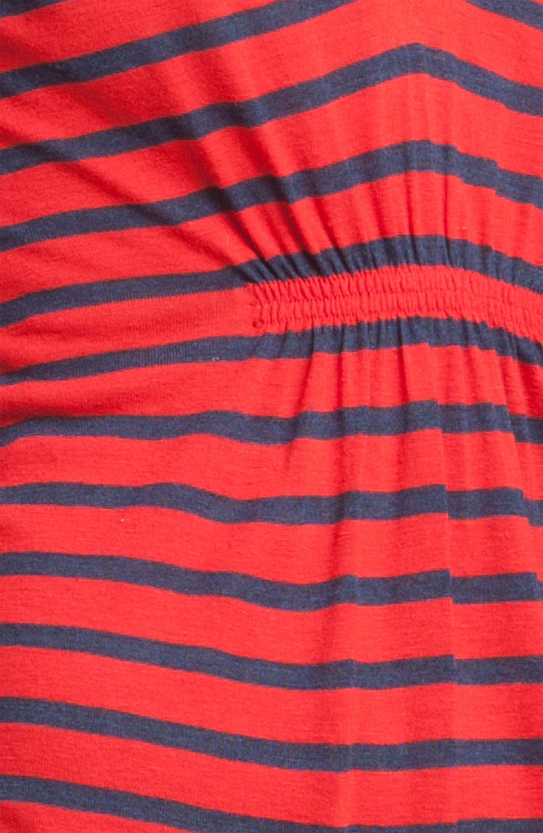 Alternate Image 3  - Ella Moss Ruched Notch Neck Stripe Tunic