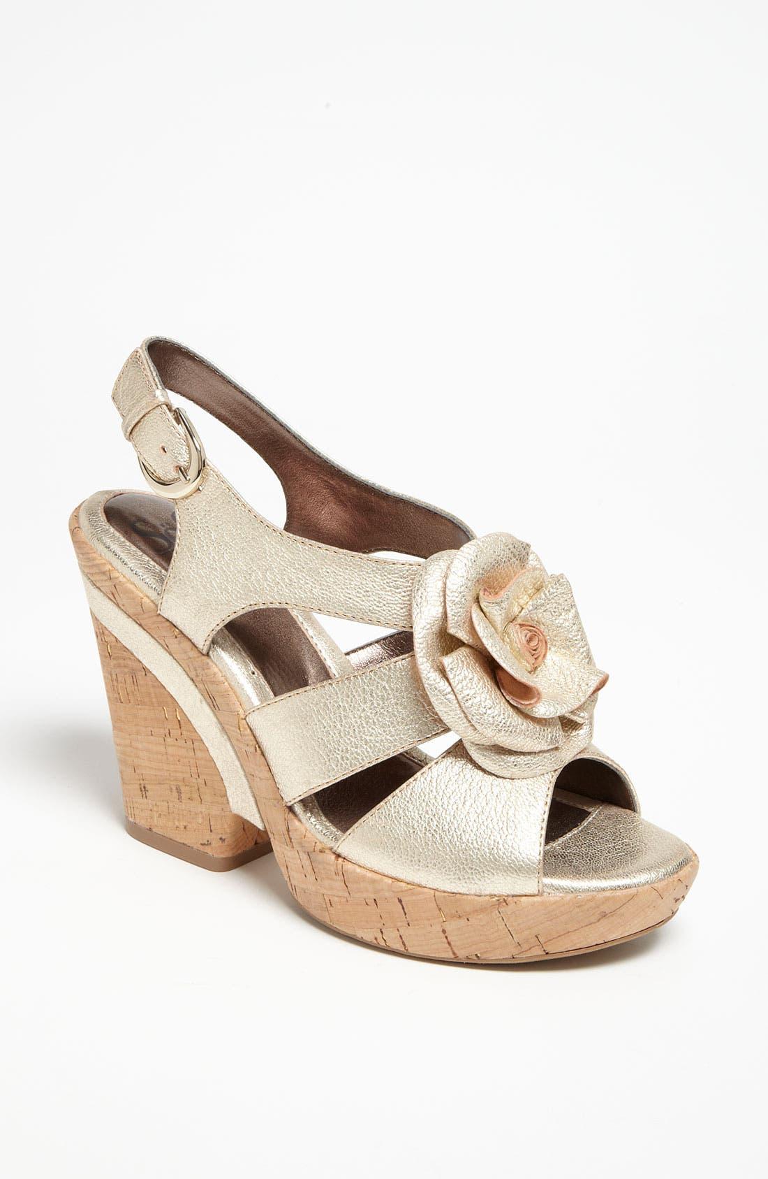 'Odelle' Sandal,                         Main,                         color, Gold