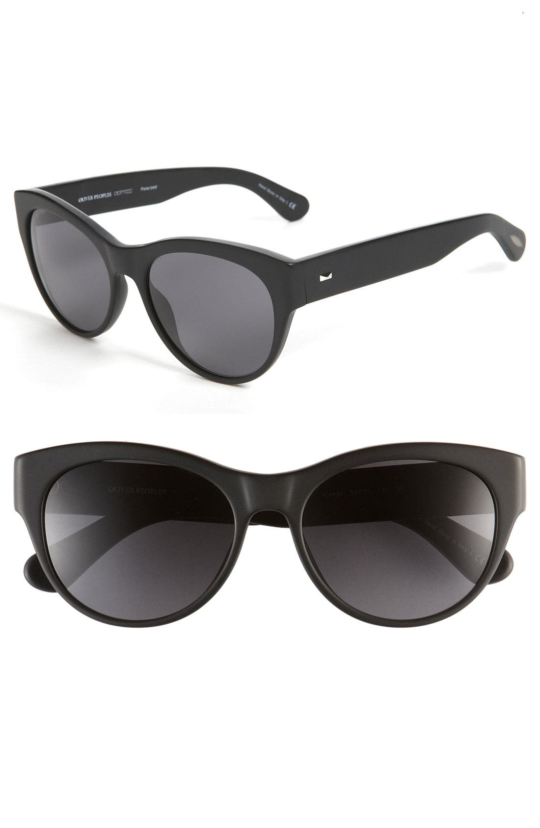 Alternate Image 1 Selected - Oliver Peoples 'Mande' 55mm Polarized Cat Eye Sunglasses