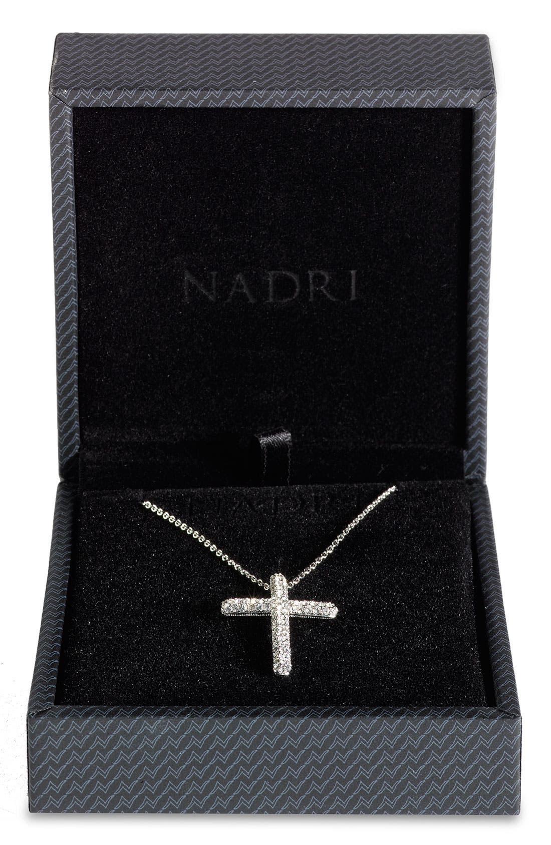 Alternate Image 2  - Nadri Small Cross Pendant Necklace (Nordstrom Exclusive)