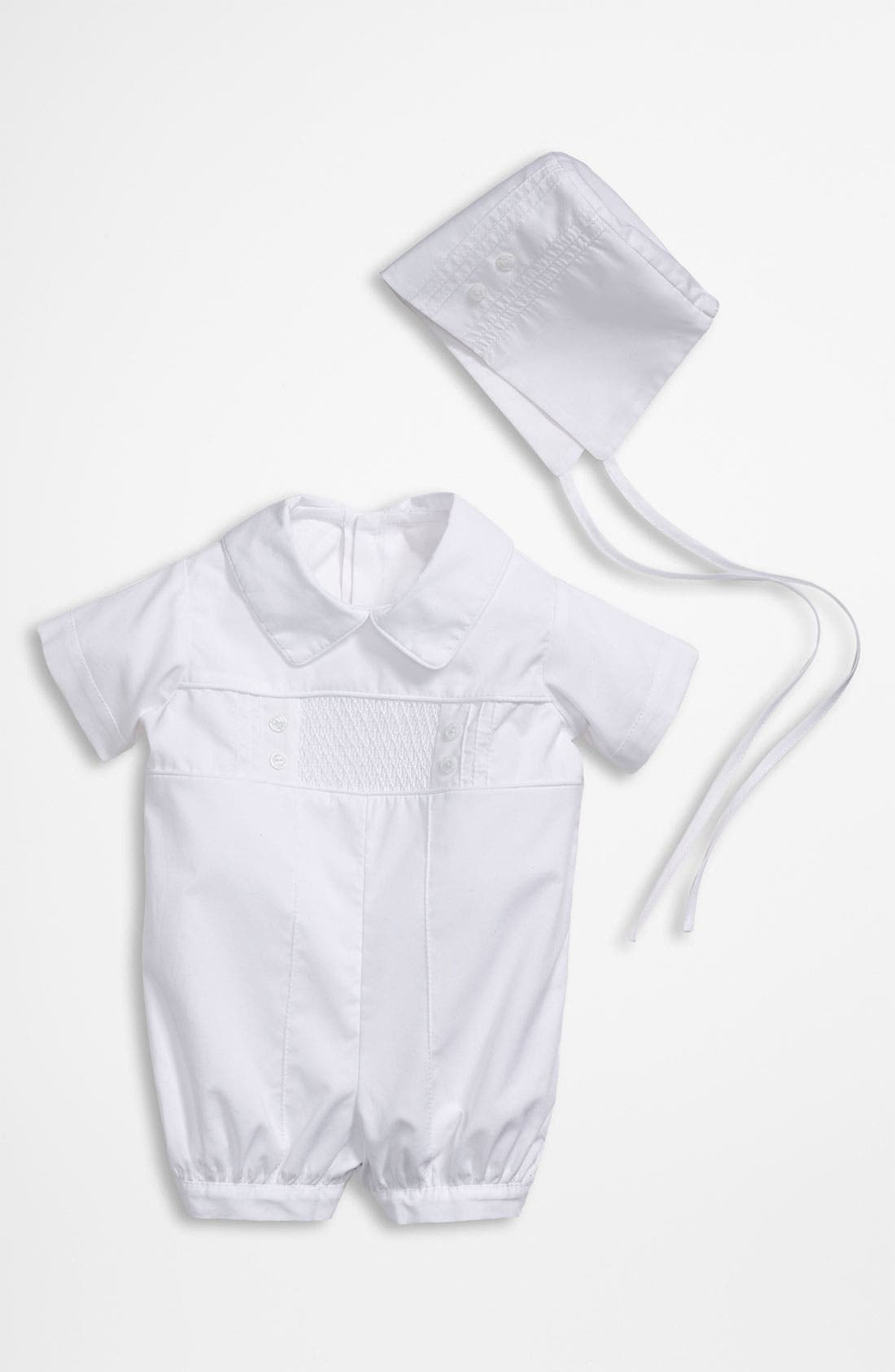 Alternate Image 1 Selected - Little Things Mean a Lot Romper & Hat Set (Baby)