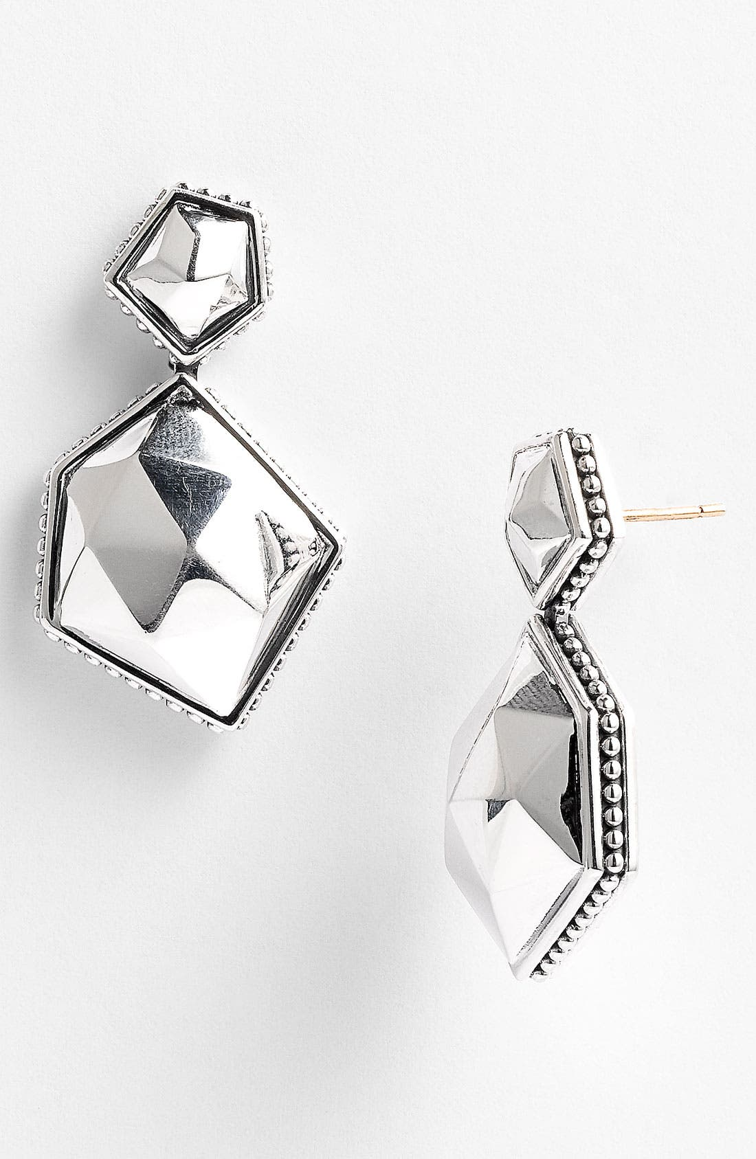 Alternate Image 1 Selected - LAGOS 'Silver Rocks' Angled Drop Earrings