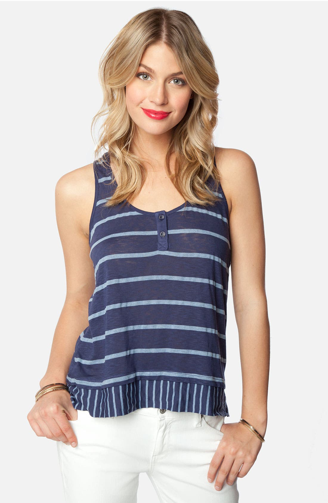 Alternate Image 4  - Splendid Contrast Stripe Hem Tank