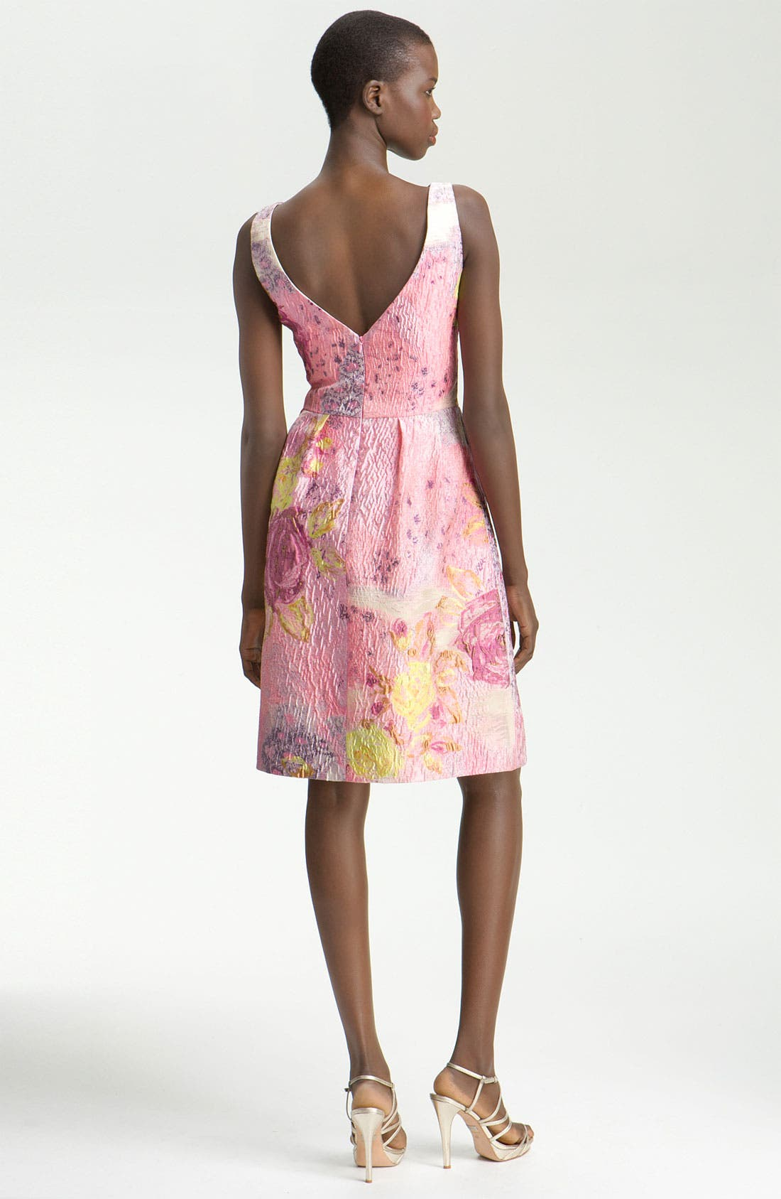 Alternate Image 2  - Lela Rose Jacquard Sheath Dress