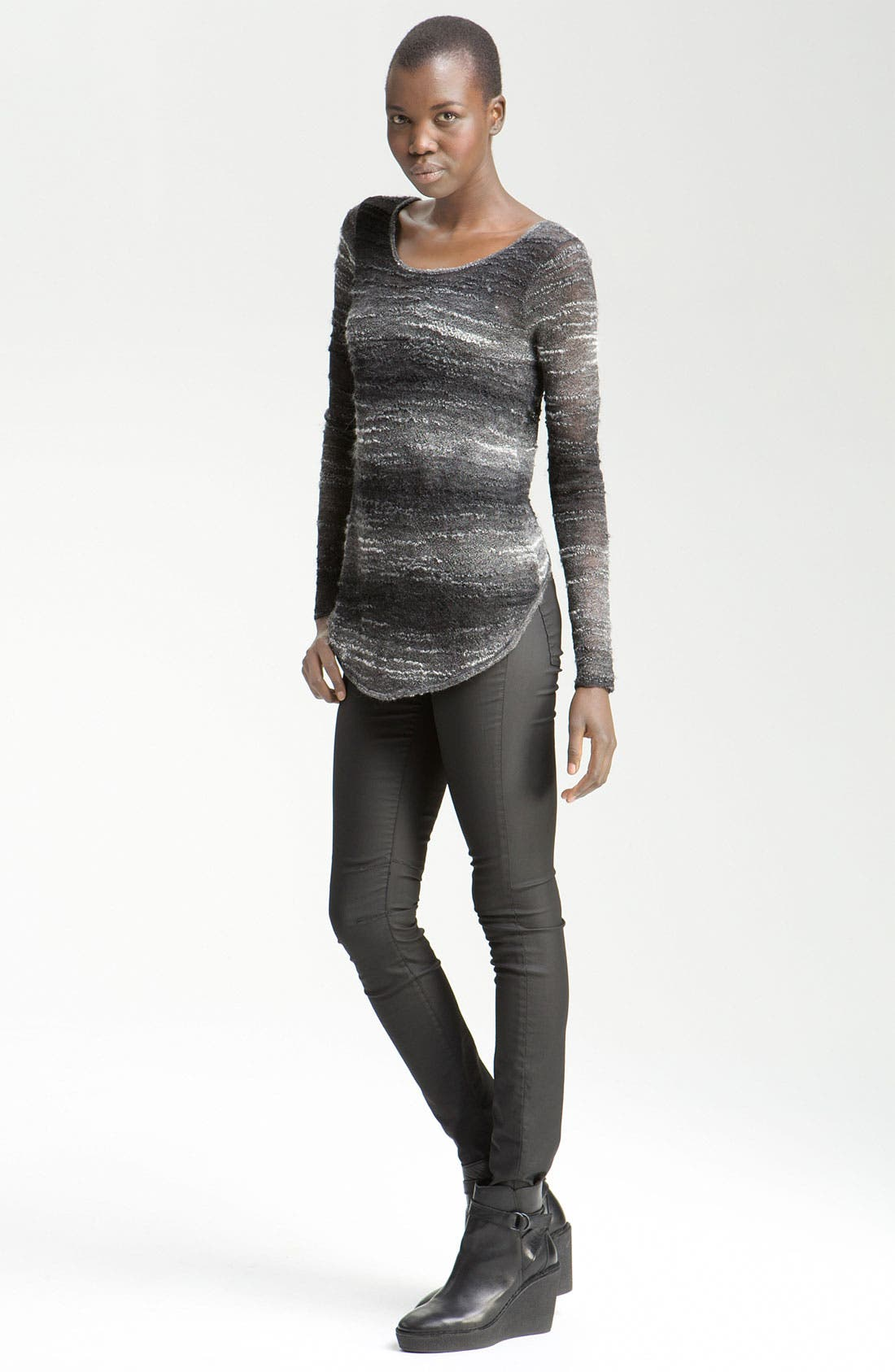 Main Image - Helmut Lang Distressed Mohair Pullover