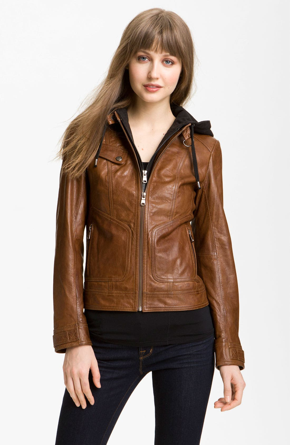 Alternate Image 1 Selected - Marc New York by Andrew Marc Leather Moto Jacket