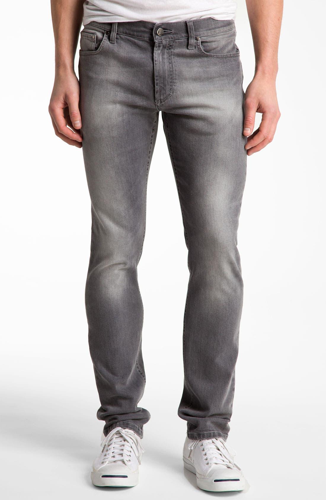 Alternate Image 1 Selected - Versace Slim Straight Jeans (Grey)