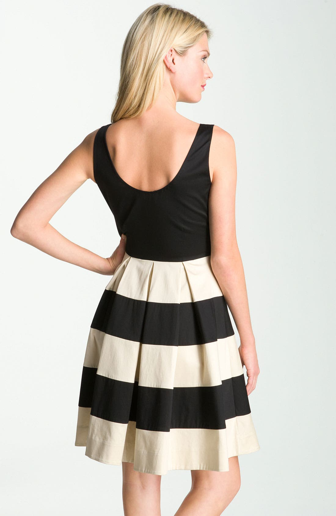 Alternate Image 2  - kate spade new york 'celina' pleated stripe dress (Online Exclusive)
