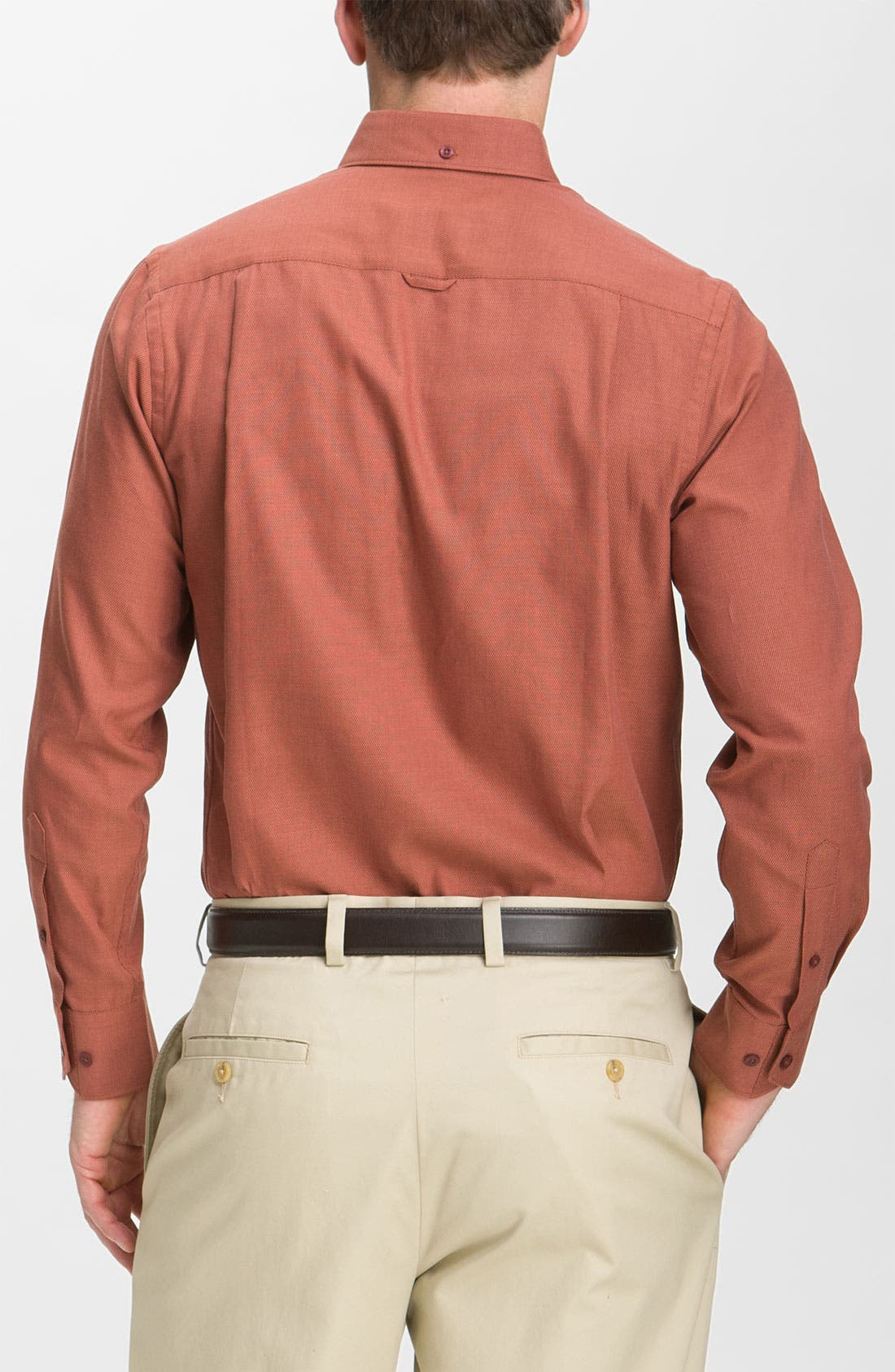Alternate Image 2  - Nordstrom Smartcare™ Cotton Dobby Sport Shirt