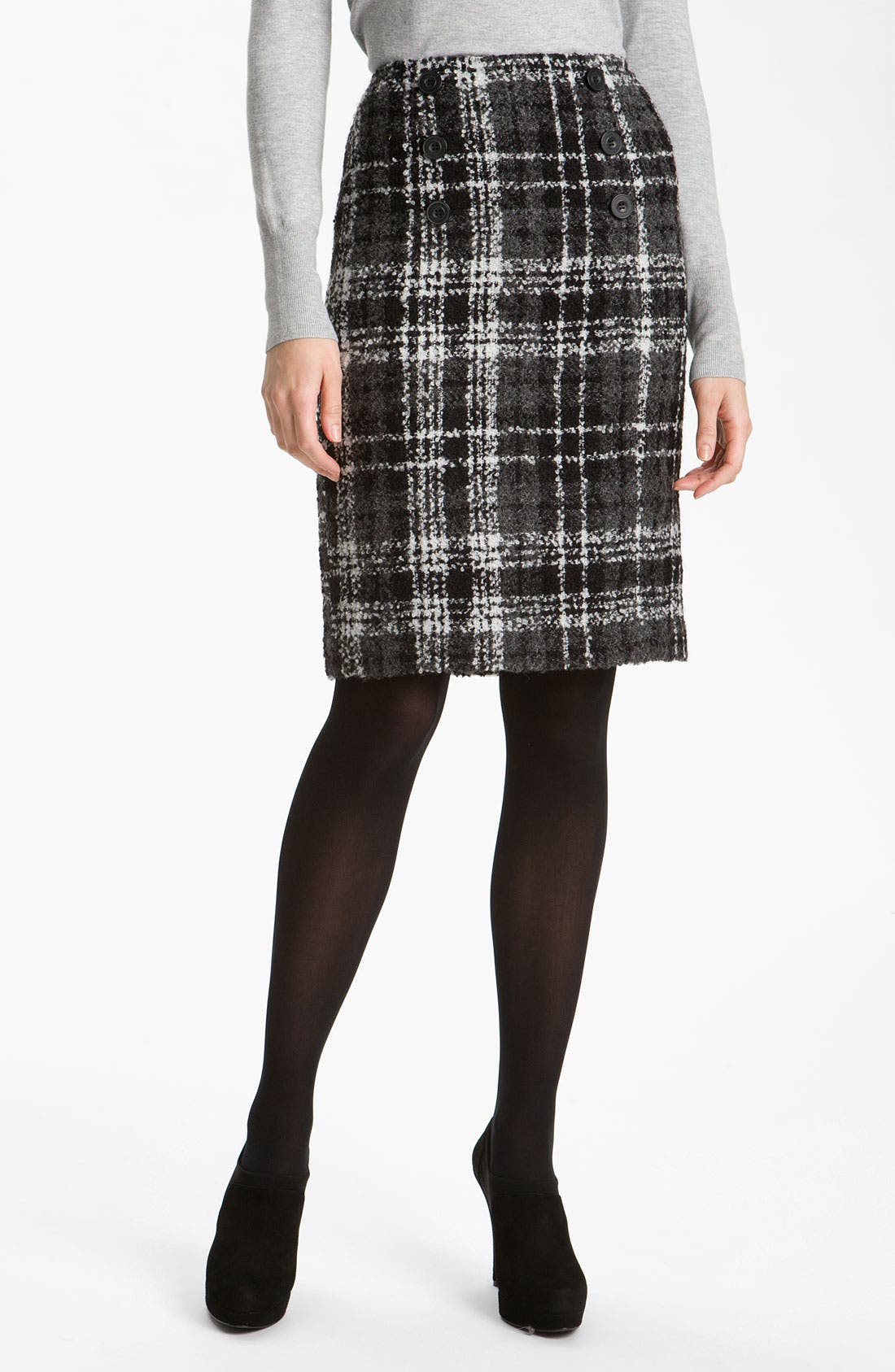 Alternate Image 1 Selected - Halogen® Double Button Pencil Skirt