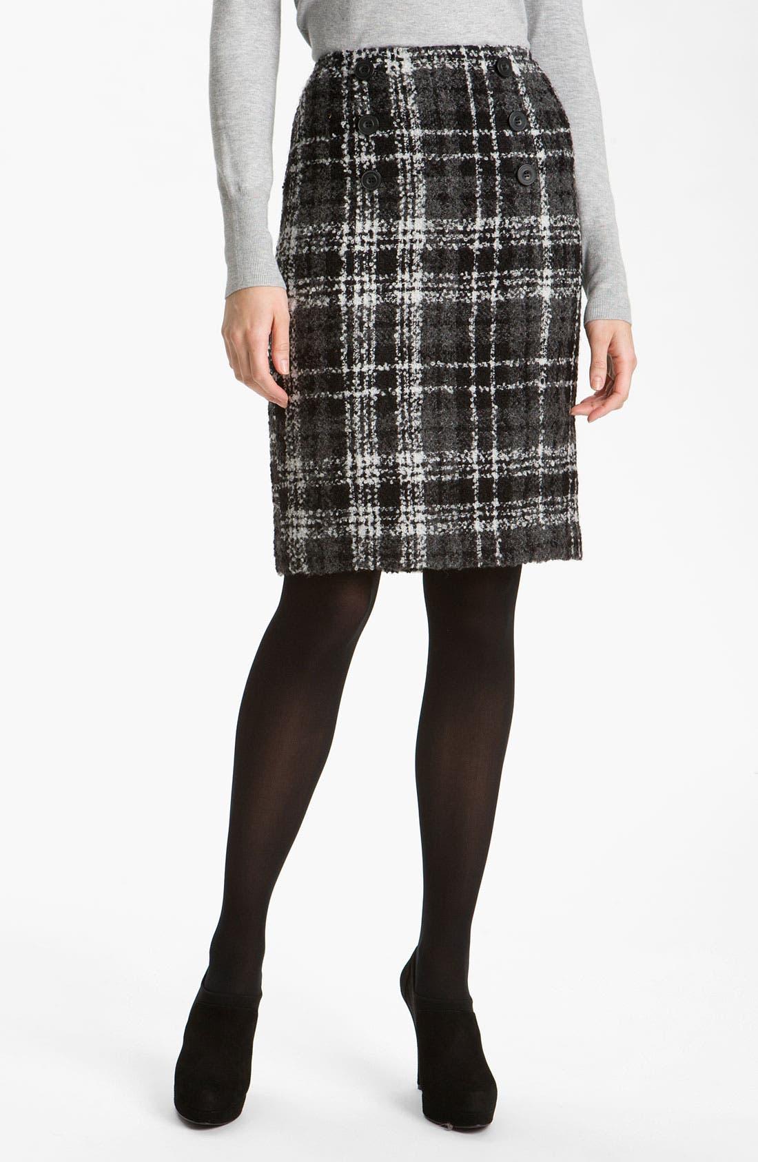 Main Image - Halogen® Double Button Pencil Skirt