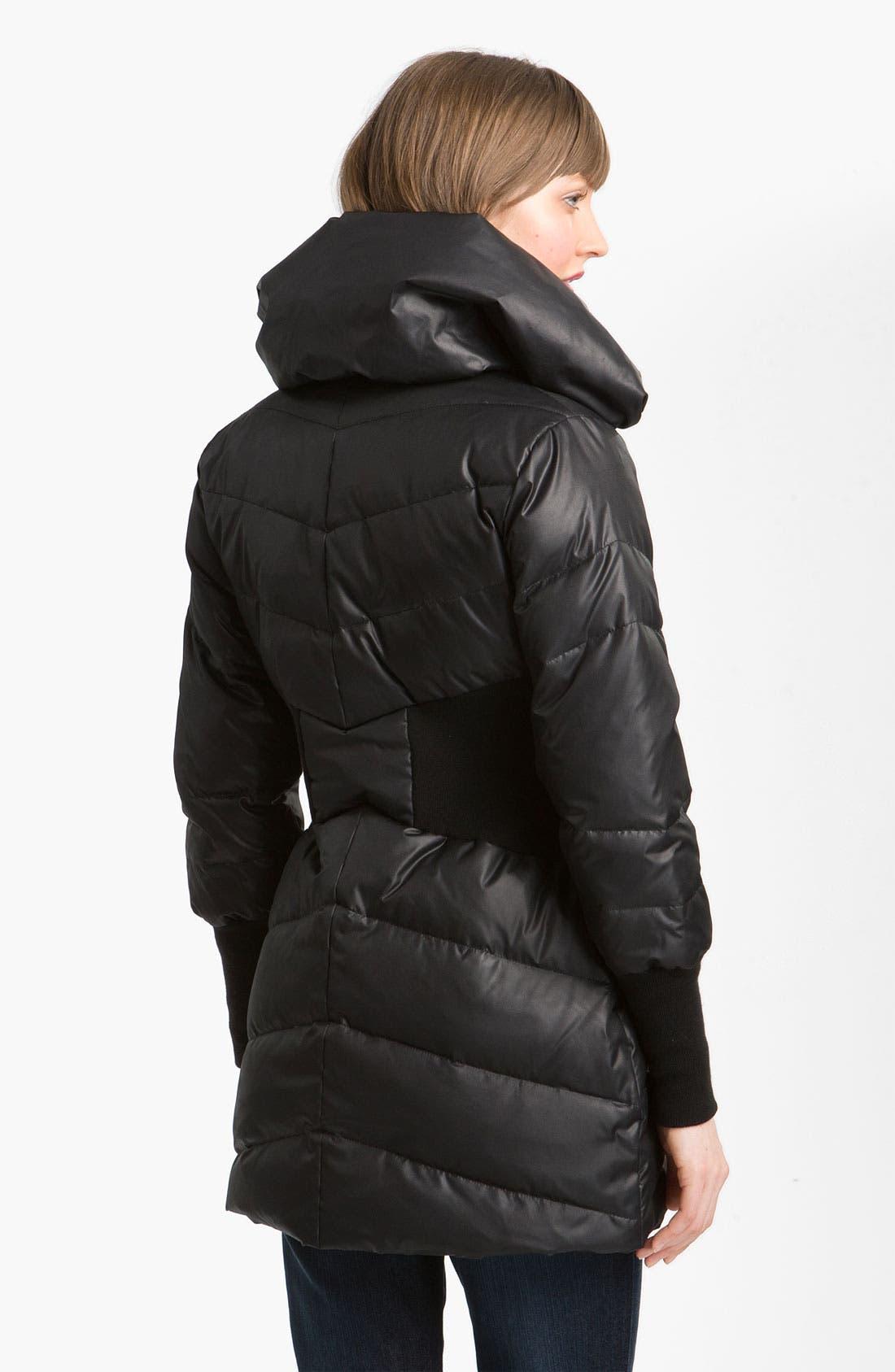 Alternate Image 2  - bebe Knit Trim Puffer Jacket